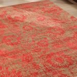 Clay Velvet Red Knotted Rug-1